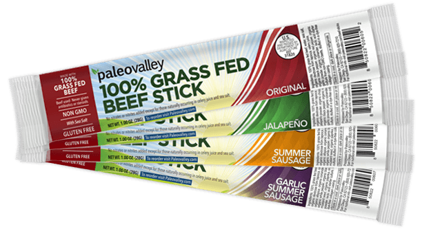 Paleo 100% Grass Fed beef Sticks